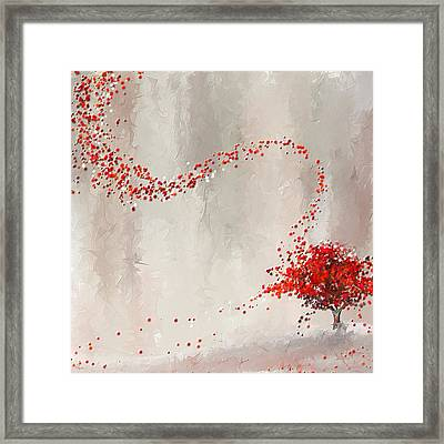 Red Winter Framed Print by Lourry Legarde