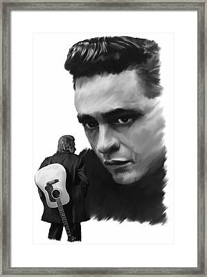Redemption Jonny Cash Framed Print by Iconic Images Art Gallery David Pucciarelli