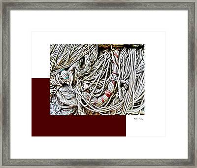 Redes 4 Framed Print by Xoanxo Cespon