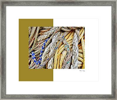Redes 5 Framed Print by Xoanxo Cespon