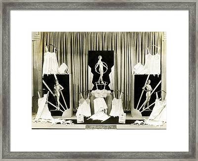 Redfern Corsette Store Display Framed Print by Underwood Archives