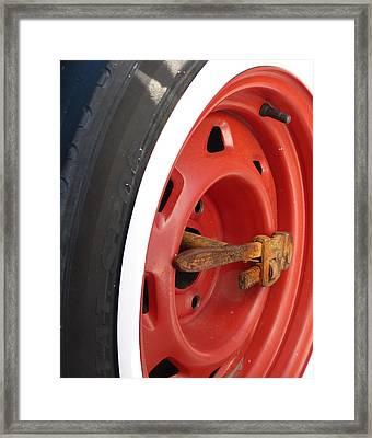 Redneck Truck Hub Framed Print by Cindy Wright