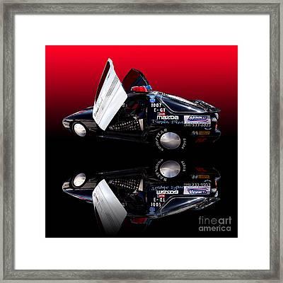 Redondo Beach Police Cruiser Framed Print by Jim Carrell