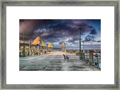 Redondo Pier Framed Print by Joseph Hollingsworth
