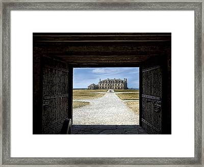 Redoubt Gates Framed Print by Peter Chilelli