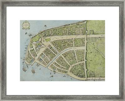 Redraft Of The Castello Plan Framed Print by John Wolcott Adams