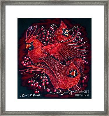 Reds Framed Print by Linda Simon