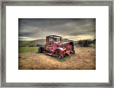 Redtired Framed Print by Ryan Smith