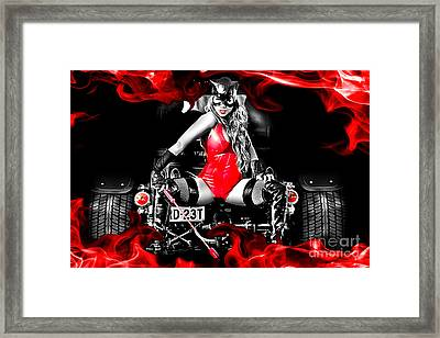 Reeoww Framed Print by Billy Posters