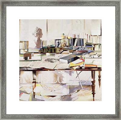 Reference, 1991 Oil On Canvas Framed Print by Jeremy Annett