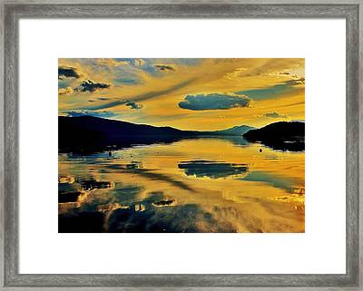 Reflect Framed Print by Benjamin Yeager