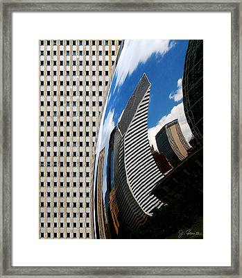 Reflected City Framed Print by Joe Bonita