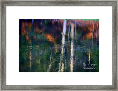 Reflected In The Water Framed Print by Adela Kitty