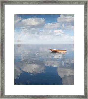 Reflected Shanti Framed Print by Deborah Smith