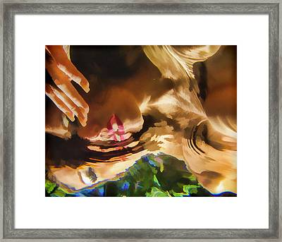 Reflecting On The Surface 1 Framed Print by Scott Campbell