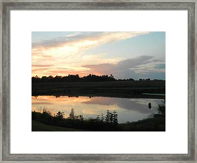 Reflecting Sky Framed Print by Linda Brown