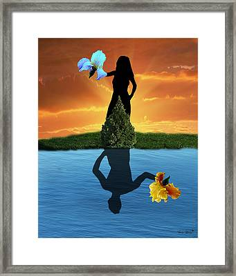 Reflecting Framed Print by Torie Tiffany