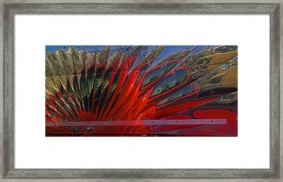 Reflection In A Taco Truck Framed Print by Scott Campbell