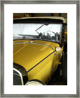 Reflection Of The Past Framed Print by Bill Gallagher