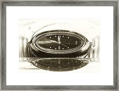 Reflection Of Time Framed Print by Caitlyn  Grasso