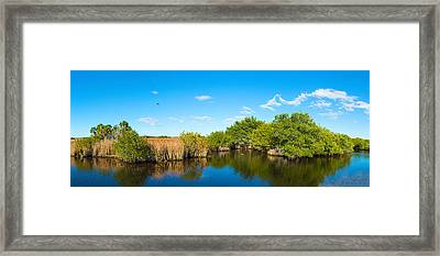 Reflection Of Trees In A Lake, Big Framed Print by Panoramic Images