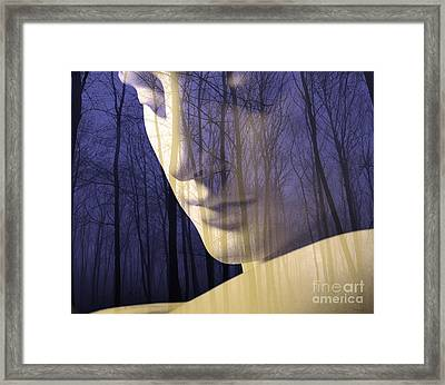 Reflection / The Philosophy Of Mind Framed Print by Elizabeth McTaggart