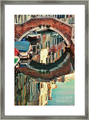 Reflection-venice Italy Framed Print by Tom Prendergast