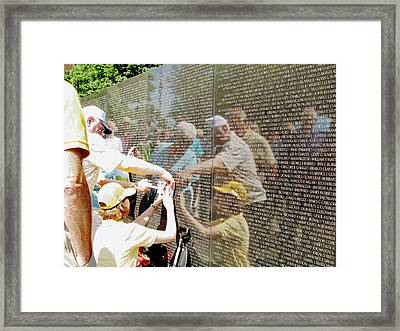 Reflections And Rememberance Framed Print by Barbara McDevitt