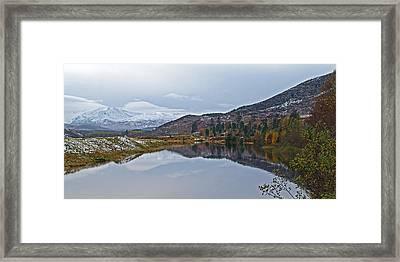 Reflections At Loch Laggan Framed Print by Gill Billington