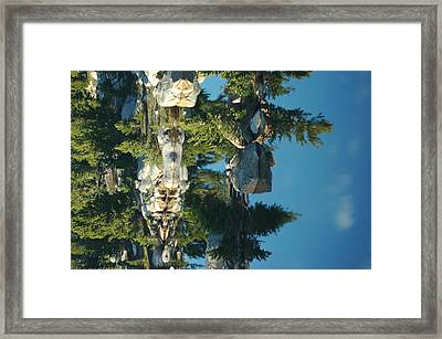 Reflections From Beartooth Highway Framed Print by Larry Moloney