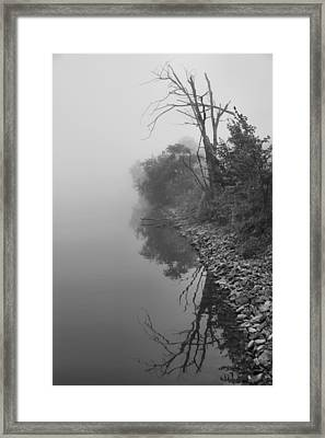 Reflections In Black And White Framed Print by Dan Sproul