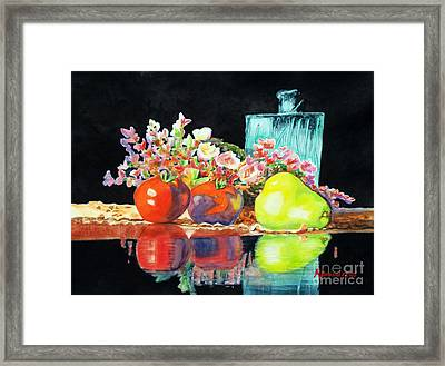 Reflections In Color Framed Print by Kathy Braud
