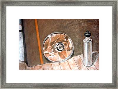 Reflections In Glass And Steel A Still Life Framed Print by Mukta Gupta