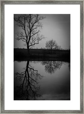 Reflections In Time Framed Print by Miguel Winterpacht