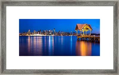 Reflections Of A Gazebo Framed Print by Alexis Birkill