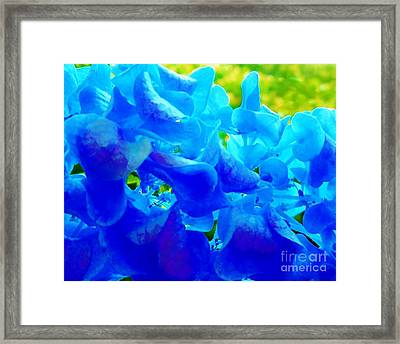 Bed Framed Print featuring the photograph Reflections Of Blue Hydrangeas by Eloise Schneider