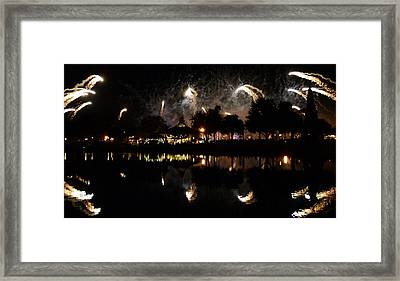 Reflections Of Epcot Framed Print by David Lee Thompson