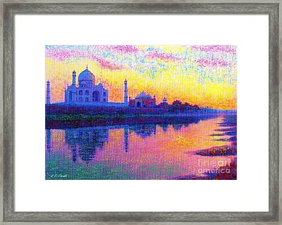 Taj Mahal, Reflections Of India Framed Print by Jane Small