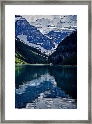 Reflections Of Lake Louise - Banff National Park Framed Print by Jordan Blackstone