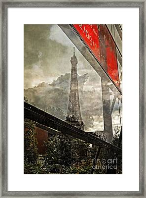 Reflections Of Paris Framed Print by Mary Machare