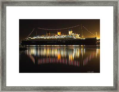 Reflections Of Queen Mary Framed Print by Heidi Smith