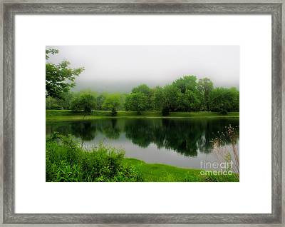 Reflections Of The Shire Framed Print by Mark Miller
