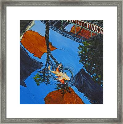 Reflections Of The Wharf Framed Print by Darice Machel McGuire