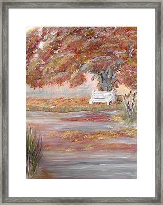 Reflections Of Thoughts Framed Print by Corina Lupascu