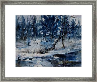 Reflections Of Winter Framed Print by Xueling Zou
