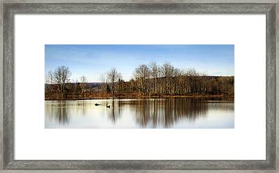 Reflections On Golden Pond Framed Print by Christina Rollo