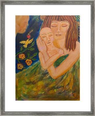 Reflections On Motherhood Framed Print by Havi Mandell