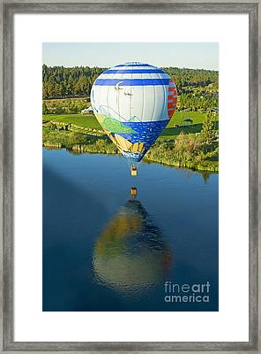 Reflections Over The Dechutes Framed Print by Nick  Boren