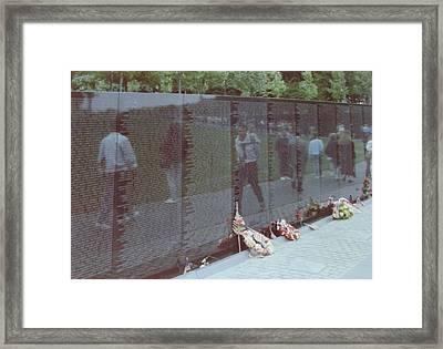 Reflections Vietnam Memorial Framed Print by Joann Renner