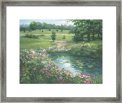 Reflective Beauty Framed Print by Ghambaro